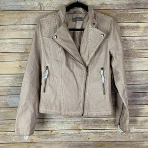 NWT Bagatelle Women's S Pink Faux Leather Jacket